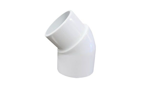 "Polyvinyl Chloride PVC Male - Female Elbow 2"" 135 Degree With Long Life Time"