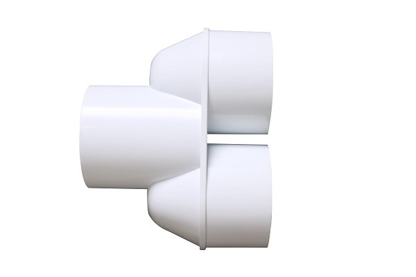 Pvc Pipe Fittings Corner : Manifold wye schedule pvc pipe fittings white