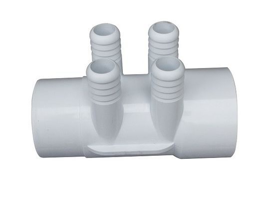 "China Water Manifold 2""-4*3/4 Pipe Fittings Underground Massage bath Four Way Plumbing Connector factory"