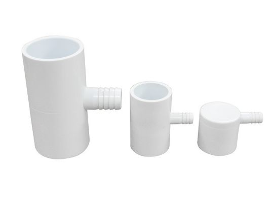 Corrosion Resistance Cross 1.5 Inch PVC Tee Fittings , 3 Way PVC Elbow