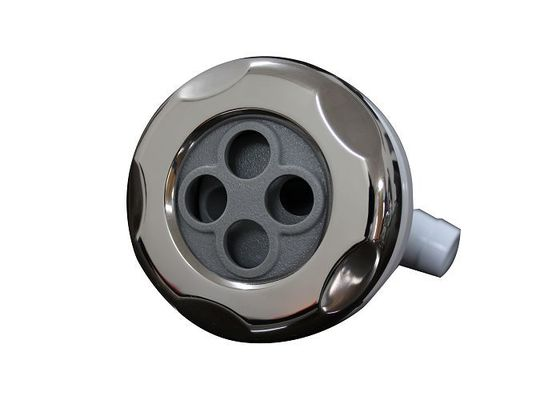 China Smooth Graphite Gray 3.5 inch Typhoon Hot Tub Jet Parts , Hotel Spa Tub Accessories factory
